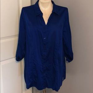 Catherines Blue Button-Down Top Size 22/24